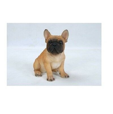 Sitting FRENCH BULLDOG Puppy Dog  - Life Like Figurine Statue Home/ Garden NEW