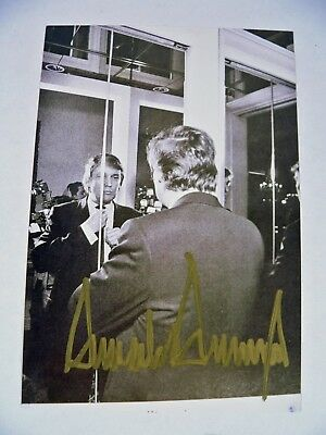 "Donald Trump Autographed 4"" x 6"" Photo Signed"