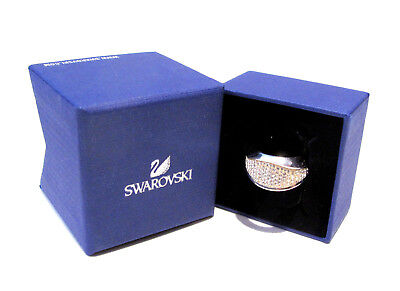 Swarovski Cycle Ring Size 58/8L 5139693 Bargian Retired Crystal Jewelry Boxed