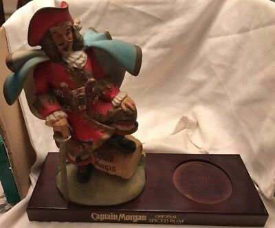 Vintage Captain Morgan Spiced Rum Statue Bar Display Bottle Holder Advertising