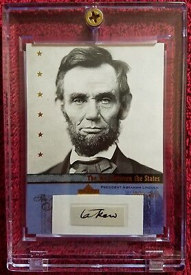 "One Authentic Handwritten Word by Abraham Lincoln - ""taken"" - Two COAs"
