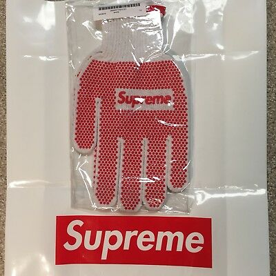 Supreme Box Logo SS18 Grip Work Gloves Brand New Still Sealed Spring Summer 2018