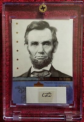 """One Authentic Handwritten Word by Abraham Lincoln - """"the"""" - Two COAs"""