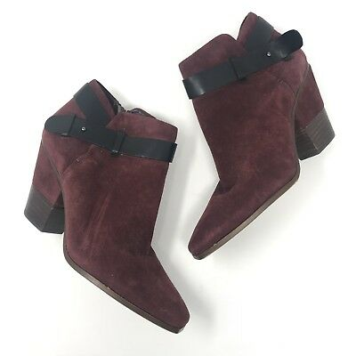 Dolce vita Booties 9 Burgundy Red Black Ankle Fall Winter Womens