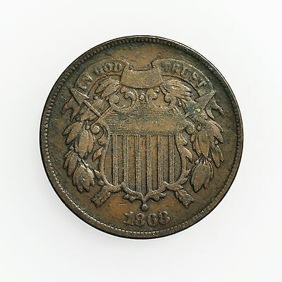 1868 Two Cent Piece Small Coin [2780.05]