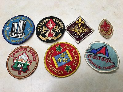Lot of 7 Boy Scouts of Canada Patches