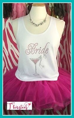 NEW size L misses fit rhinestone bride tank top bachelorette tank top bride to b