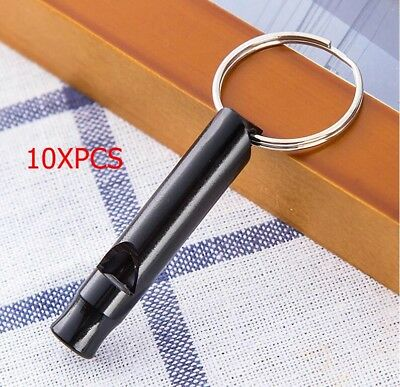 10PC/LOT Black Hunting Survival Whistle Emergency Camping Hiking Outdoor Tool