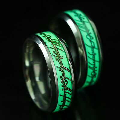 Men Luminous Fashion Fluorescent Stainless Steel Magic Finger Personalized Ring