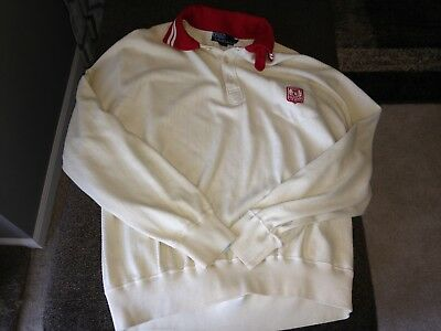 Vintage Polo Ralph Lauren L/S rugby polo shirt horse crest size XL htf