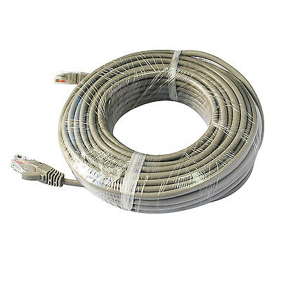 New 1x 30m Ethernet Network Cable CAT5 RJ45 LAN Connector Extend Wire for POE