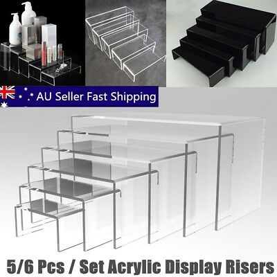 5/6 PCS SUPER DEAL Clear Acrylic Perspex Sturdy Jewellery Display Riser Stand