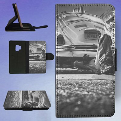 Black And White Car Vehicle Vintage Flip Case Cover For Samsung Galaxy Phone