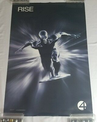 "2008 MARVEL FANTASTIC FOUR Rise of Silver Surfer DS 27x40"" Movie Poster 1 sheet"