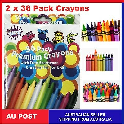 72 X  Crayon Crayons Assorted Colors Kid Gift Draw Craft