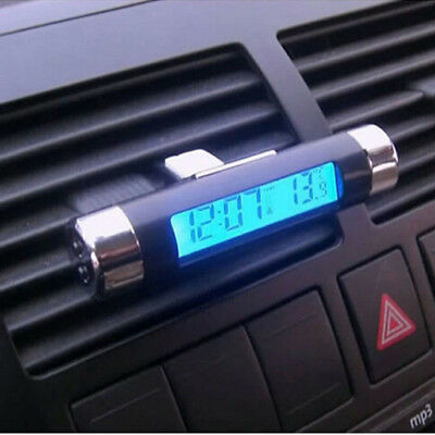Time New LCD Hot Car Backlight Digital Clock Car Thermometer Automotive