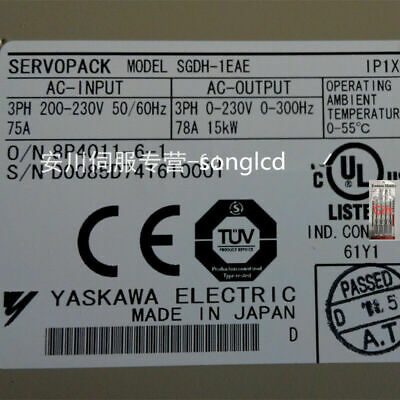 Yaskawa Servo Driver SGDH-1EAE NEW IN BOX !!via DHL or EMS!!*