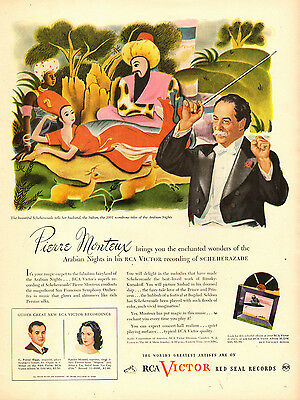 1945 vintage AD for RCA VICTOR Red Seal Records,  Pierre Monteaux phono (120514)