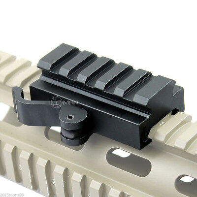 New Tactical Compact QD Quick Release Mount Adapter For 20mm Picatinny Rail Base