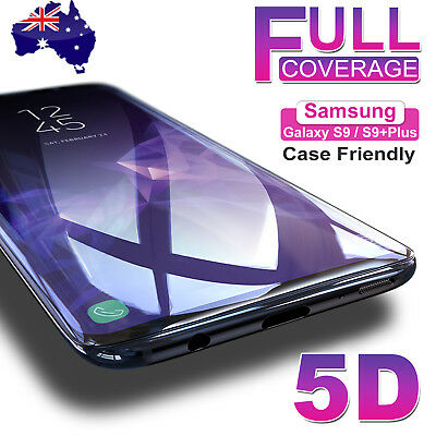 5D Samsung Galaxy S9 S8+ Note 9 Full Cover Tempered Glass Screen Protector TL