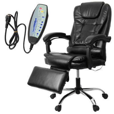 Luxury Executive Leather Massage & Reclining Swivel Office Chair Armchair PU