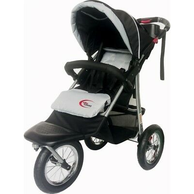 Mamakiddies 3-in-1 Baby Pram, Stroller and Jogger Black