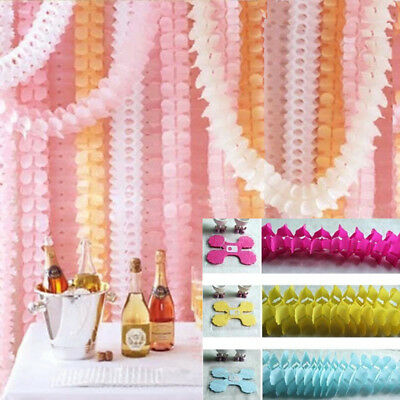 3M Tissue Paper Garlands Bunting Party Wedding Baby Shower Decorations