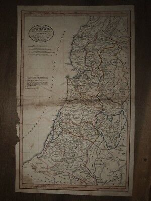 1820 MAP of CANAAN SUBSEQUENT to its CONQUEST by JOSHUA - ISRAEL PALESTINE