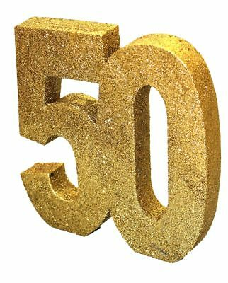 GOLD GLITTER TABLE DECORATION 50 YEAR 50th PARTY WEDDING DECORATION BIRTHDAY NEW
