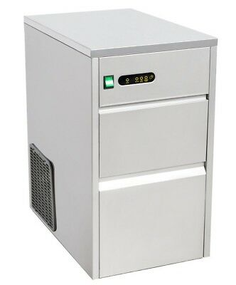 Commercial Under Counter Ice Cube Machine Maker 26kg 24hr Stainless Steel Auto