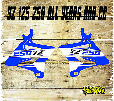 Yamaha Yz Yzf 85 125 250 450 Rad Scoops Motocross Graphics-Stickers-Decals-Blue