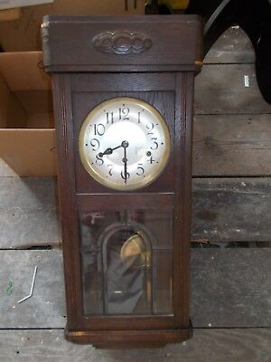 Antique Haller and Benzing Chiming Wall Clock - not Working
