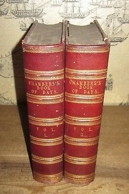 1866 Book Of Days Miscellany Of Popular Antiquities History Literature Chambers*