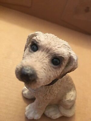 Yellow Lab Stone Critters Figurine Dog Figure Made in USA