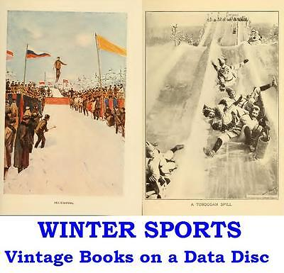 Winter Sports 11 Vintage Books on a Data Disc Skiing Skating Tobogganing Curling