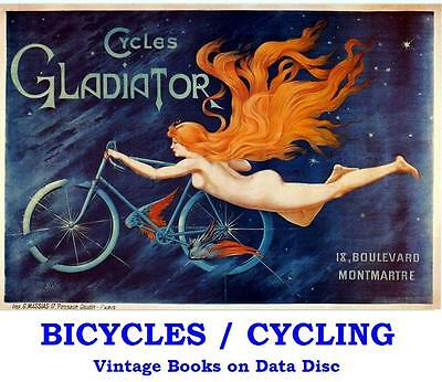 Cycling Bicycles Cyclists Collection 23 Vintage Books on a Data Disc Illustrated