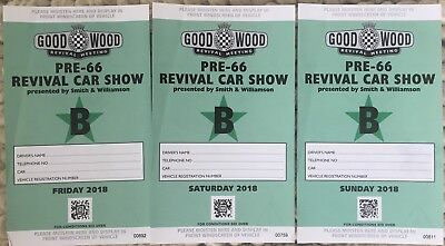 Goodwood Revival -  7th 8th 9th Sep 2018 - Pre-Tax Area Car Show Parking Pass