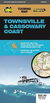 UBD Gregory's Townsville & Cassowary Coast Map 489 FREE SHIPPING NEW