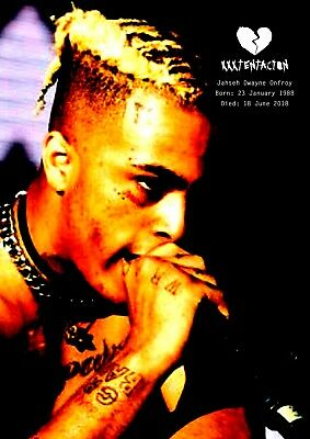 XXXTentacion Poster Retro Tribute #10 - Rapper - songwriter - A3 (420mm x 297mm)