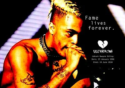 f83ea1f2623 XXXTentacion Poster Retro Tribute  14 - Rapper - songwriter - A3 (420mm x  297mm