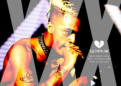XXXTentacion Poster Retro Tribute #15 - Rapper - songwriter - A3 (420mm x 297mm)