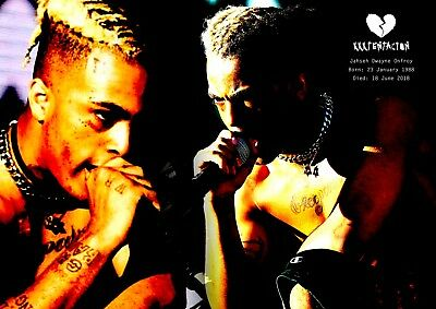 XXXTentacion Poster Retro Tribute #16 - Rapper - songwriter - A3 (420mm x 297mm)