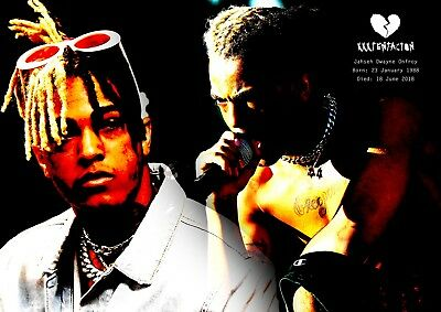 XXXTentacion Poster Retro Tribute #17 - Rapper - songwriter - A3 (420mm x 297mm)