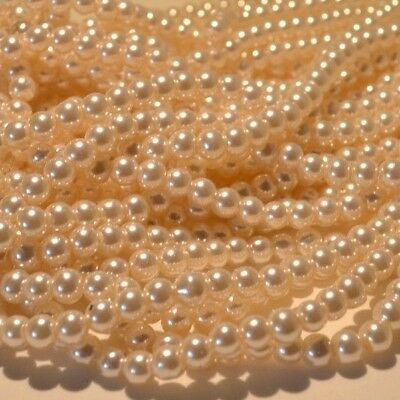 Pearl Colour Glass Pearl Beads 4mm 6mm 8mm 10mm DIY Jewellery Weddings Crafts