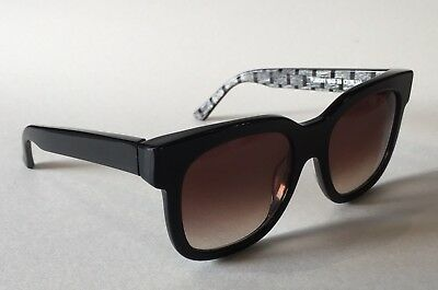 THIERRY LASRY Sunglasses FLAVORY V643 Black Grey / Gradient Brown Lenses FRANCE