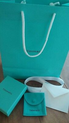 Tiffany Co Empty Jewelry Gift Box Pouch Bag Ribbon Envelope Tissue Paper