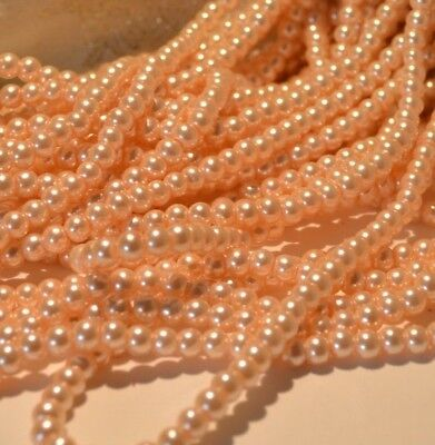 Baby Pink Pearl Glass Beads 4mm 6mm 8mm 10mm DIY Jewellery Weddings Crafts