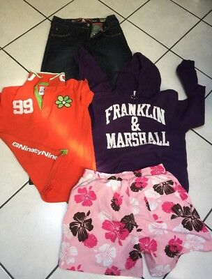 LOT GARCON 14 ANS JEAN SWEAT FRANKLIN MARSHALL POLO GURU MAILLOT SHORT rms26
