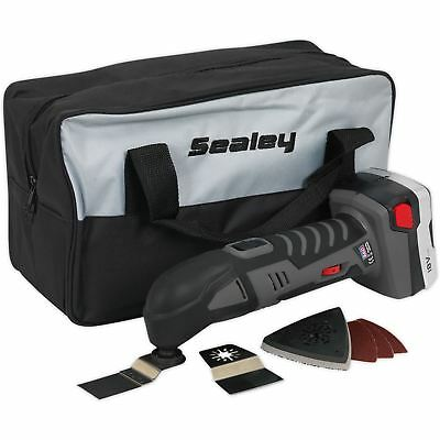 Sealey 18v Cordless Oscillating Multi-Tool 5000-15000rpm Lithium-Ion Storage Bag