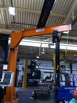 JIb Crane complete with Demag Electric Chain Hoist 125kg Underbraced